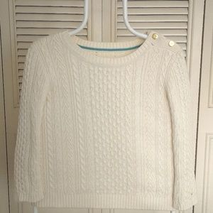 White Tommy Hilfiger Scoop Neck Knit Sweater S